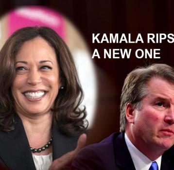 Kamala Harris Catches Judge Kavanaugh With His Pants Down