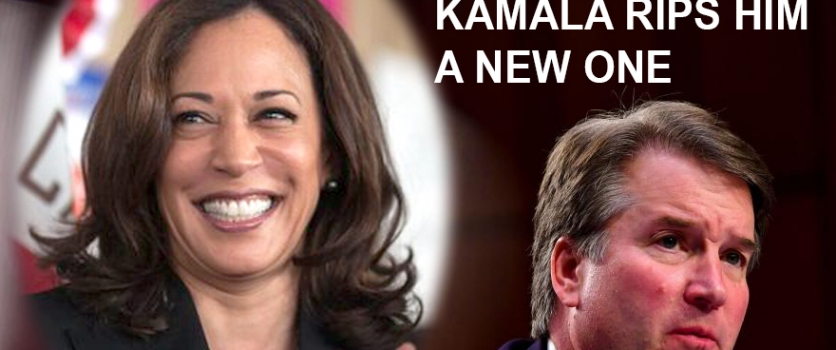 Kamala Harris Catches Judge Kavanaugh With His Pants Down